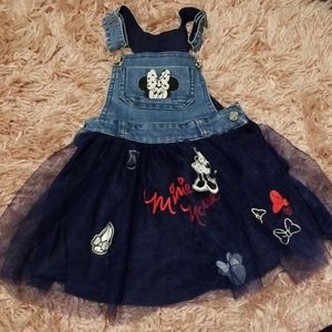 Disney Minnie Mouse Tulle Overalls 2T